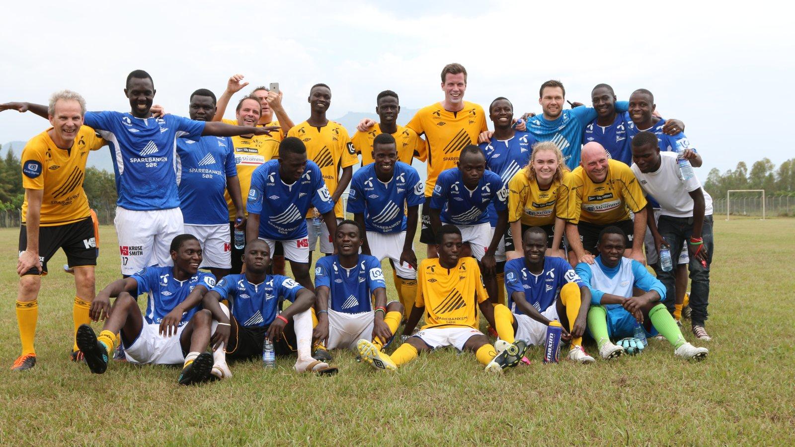 Norge-laget som fikset en sterk 4-3 seier mot Uganda.