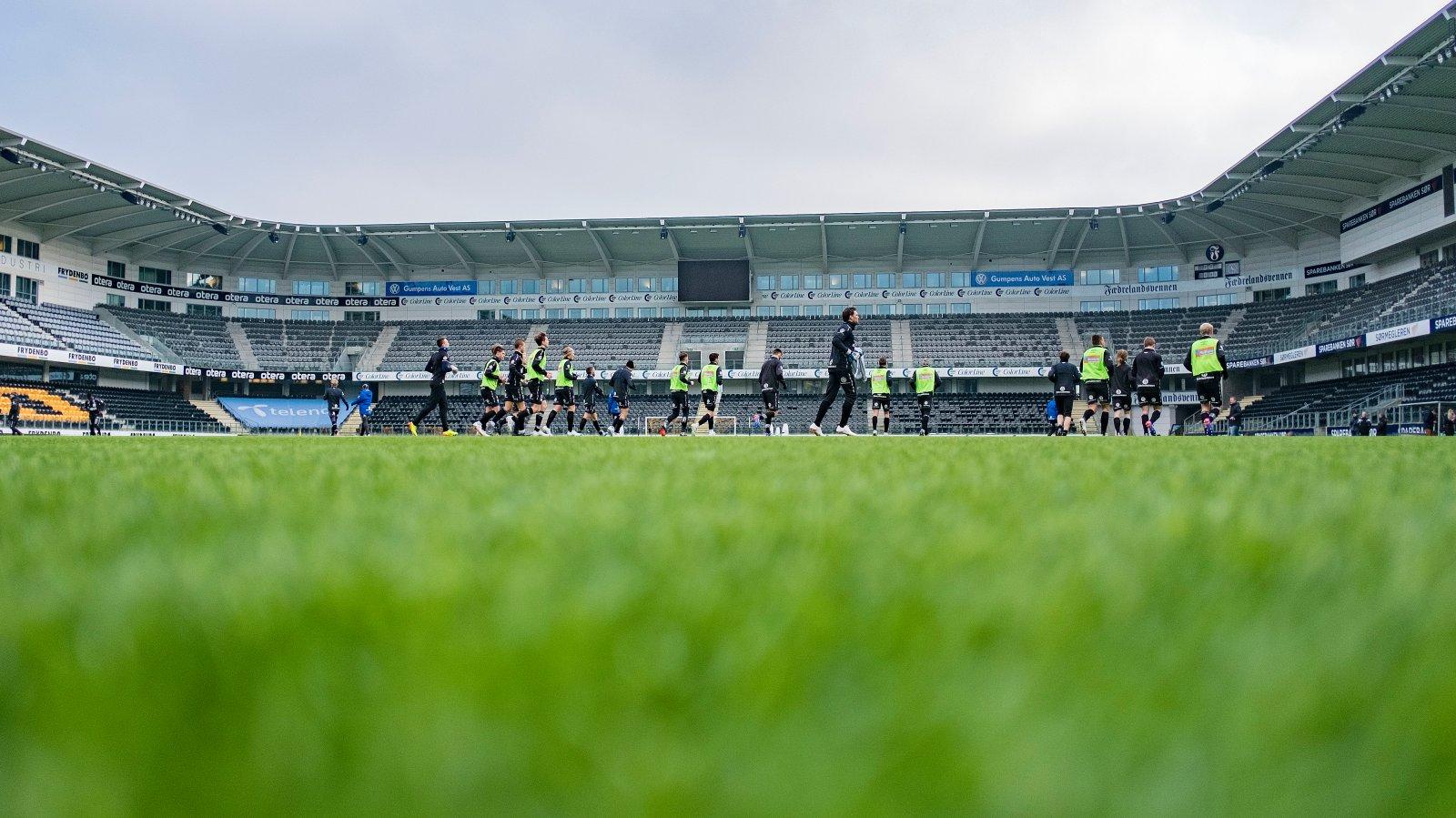 Trening, Sparebanken Sør Arena