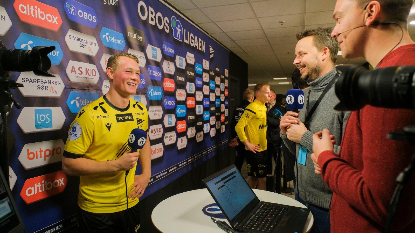 Kristian Strømland Lien fikk sine første minutter i OBOS-ligaen.