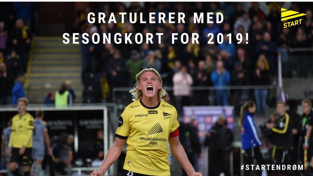 Gratulerer med sesongkort på Sparebanken Sør arena