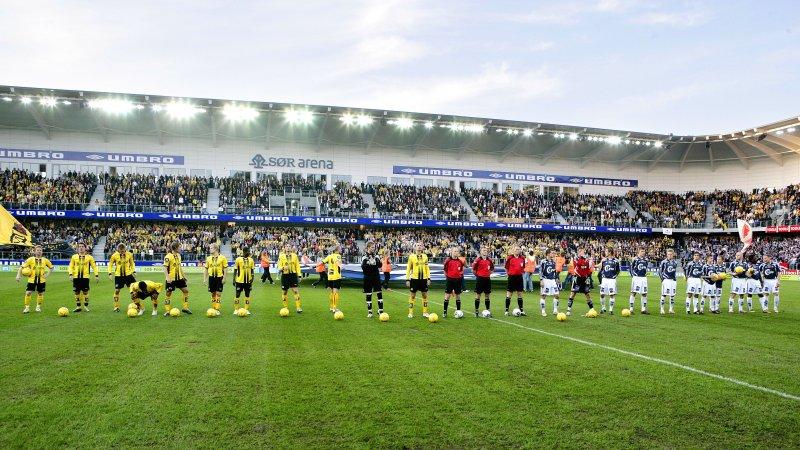 Fra åpningen av Sparebanken Sør Arena.