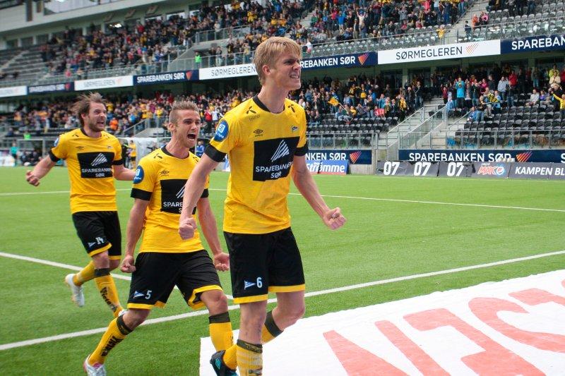 Ajer etter scoring mot Ålesund