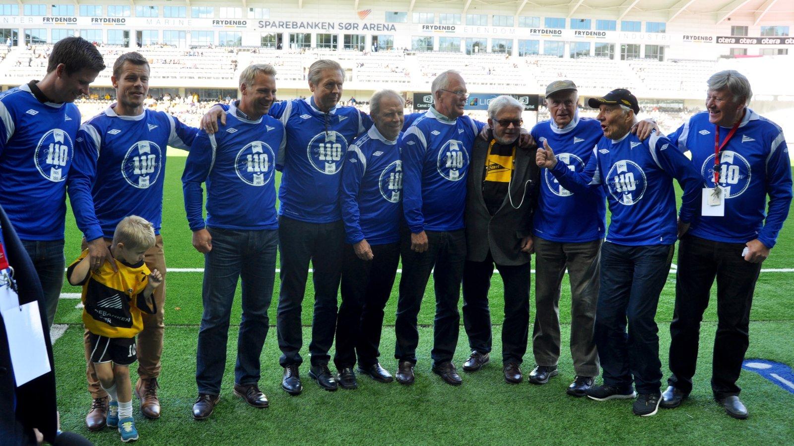 Karsten Johannesen, Egil Gundersen, Harald Båsland, Trond Pedersen, Roald Rørheim, Claus Eftevaag, Marius Johnsen, Jesper Mathisen, Per Svein Bostrøm, Jubileumskamp 2015