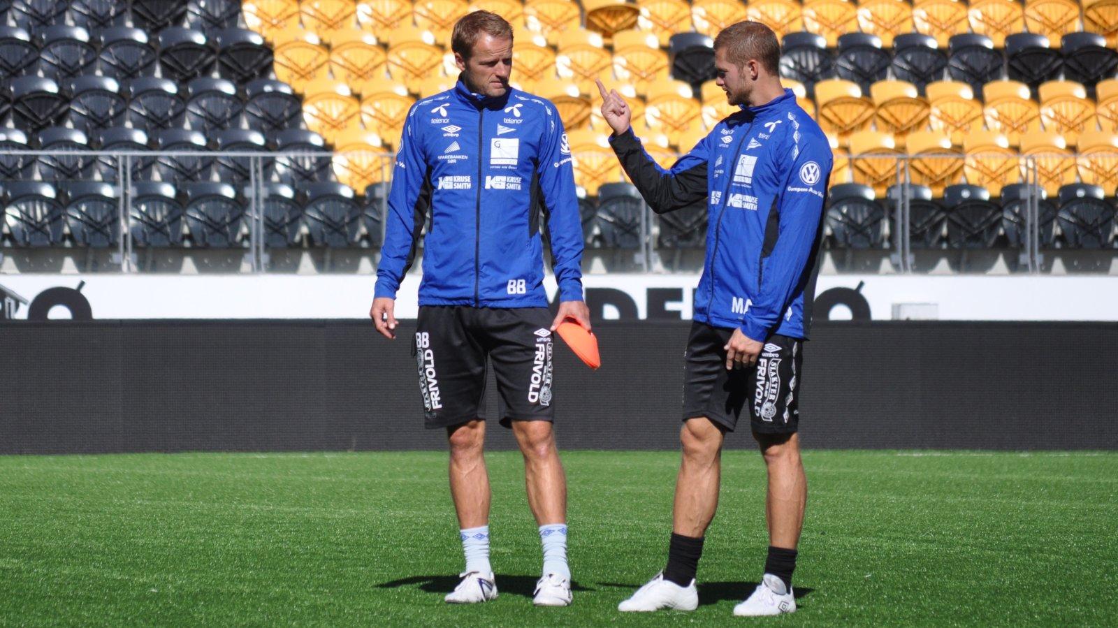 Borgersen og Andersson første trening